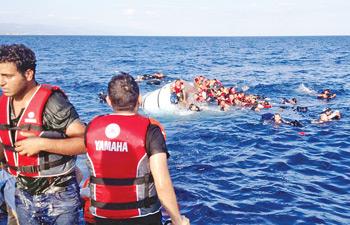 600 kişiyi taşıyan gemi battı