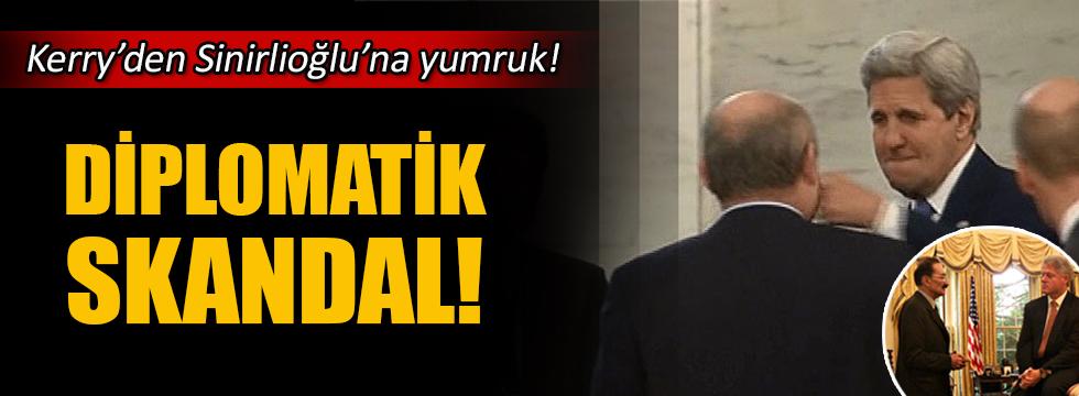 John Kerry'den Sinirlioğlu'na yumruk!