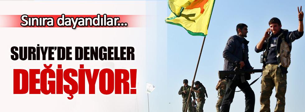 Suriye'de dengeler değişiyor... YPG sınıra dayandı