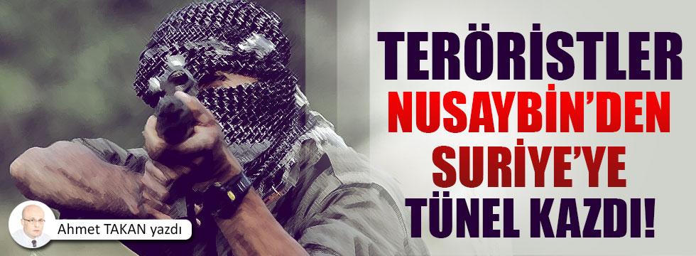 PKK, Nusaybin'den Suriye'ye tünel kazdı…