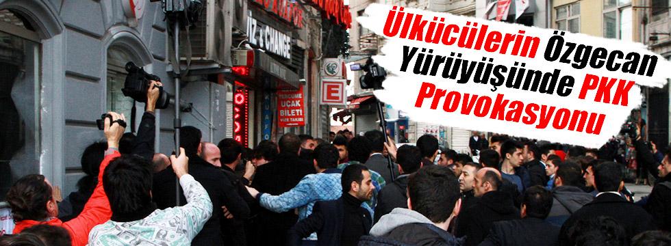 Ülkücülerin Özgecan Yürüyüşünde PKK Provokasyonu
