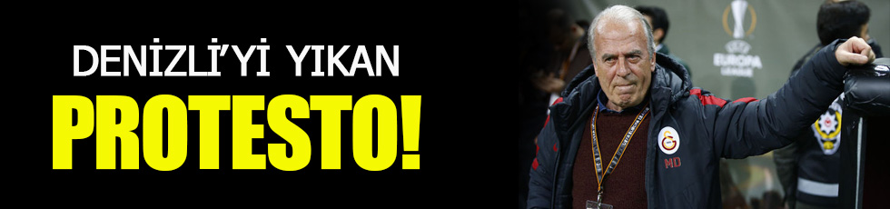 Taraftardan Denizli'ye şok protesto!