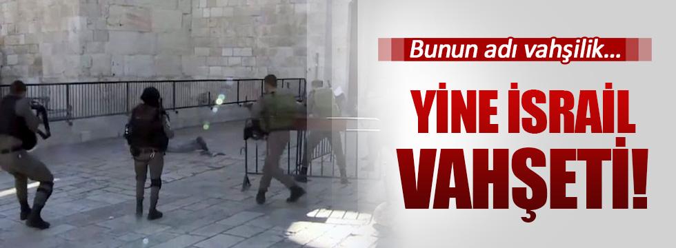 İsrail askerleri Filistinli bir genci adeta kurşuna dizdi