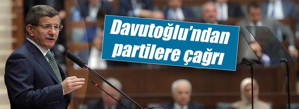 Davutoğlu'ndan siyasi partilere çağrı
