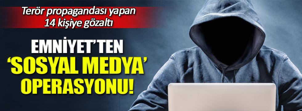 TEM'den 'Sosyal medya' operasyonu! 14 gözaltı