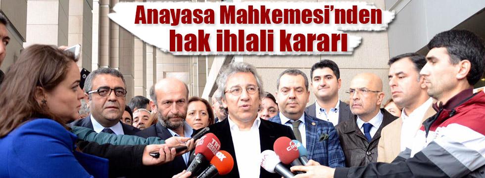 Dündar ve Gül'e tahliye yolu açıldı