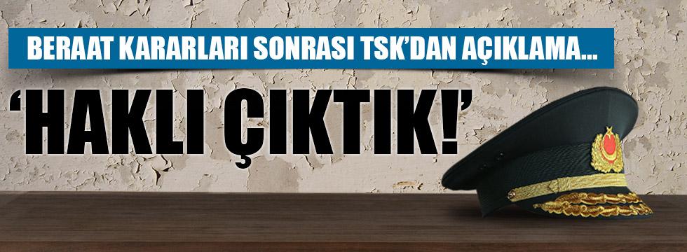 TSK'dan 'beraat kararı' açıklaması!