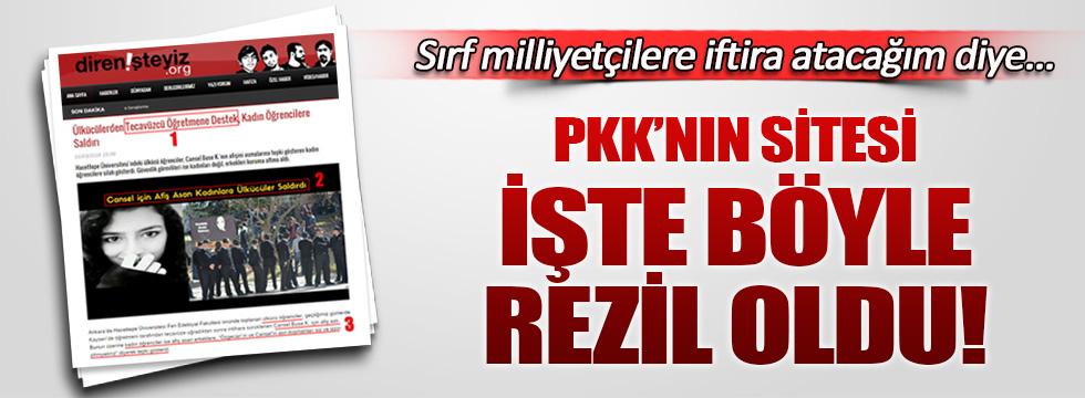 PKK'nın sitesi işte böyle rezil oldu