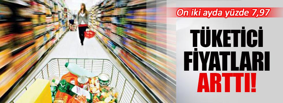 Tüketici fiyatları on iki ayda yüzde 7,97 arttı