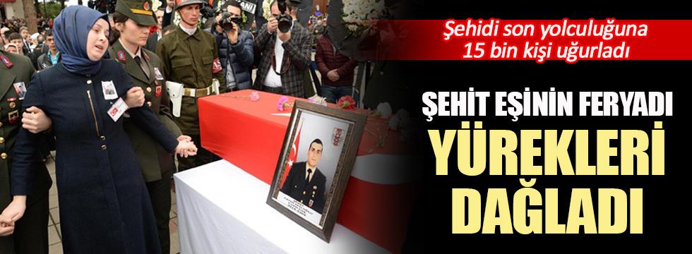 Şehit Uzman Çavuş Fatih Efiloğlu'nu 15 bin kişi uğurladı