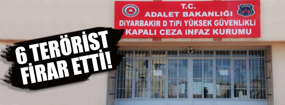 Diyarbakır'da 6 terörist firar etti