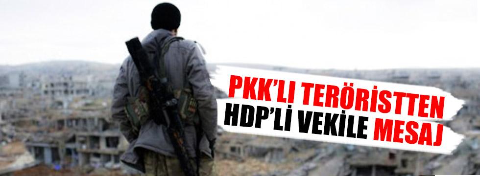 PKK'lı teröristten HDP'li vekile mesaj