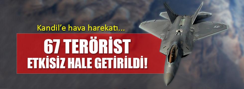 Kandil'e hava harekatı: 67 terörist öldürüldü