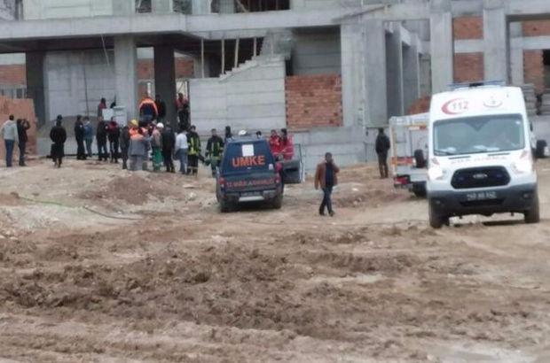 Kırşehir'de huzurevi inşaatı çöktü!