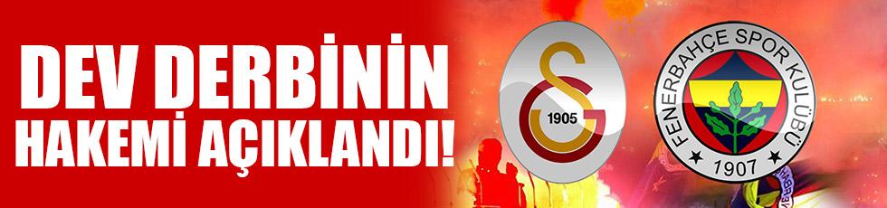 Galatasaray-Fenerbahçe maçının hakemi açıklandı