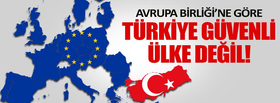 """AB'ye göre """"Türkiye güvenli ülke"""" değil!"""
