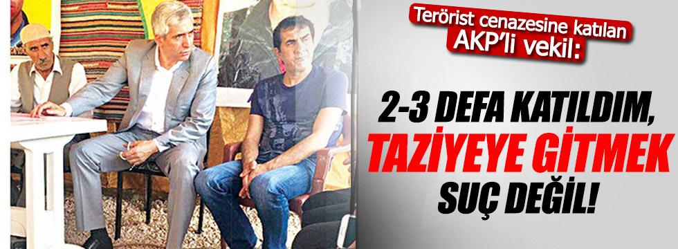 """Terörist taziyesine katılan AKP'li Ensarioğlu: """"Yaptığım suç değil"""""""