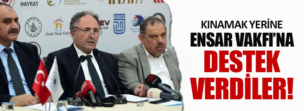 Türkiye Gönüllü Teşekküller Vakfı'ndan Ensar Vakfı'na destek