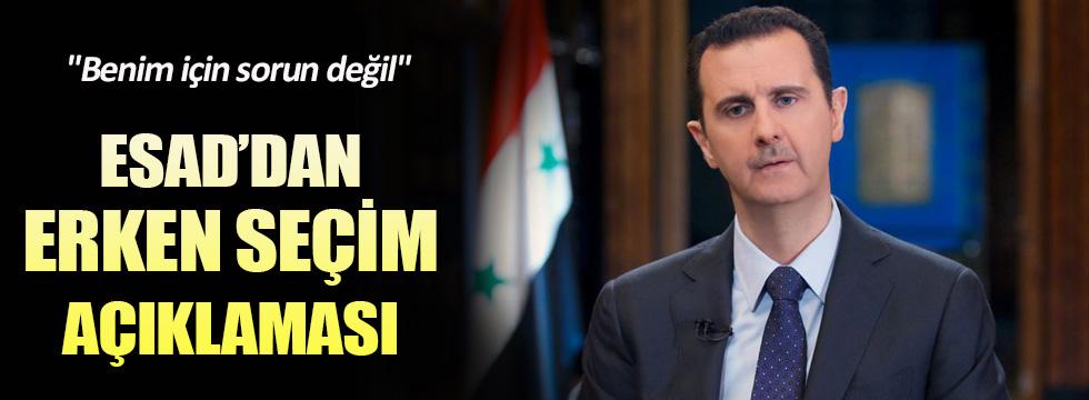 Esad'dan erken seçim açıklaması
