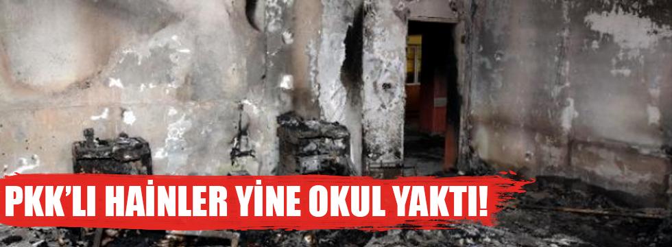 PKK'lılar Van'da Okul Yaktı!