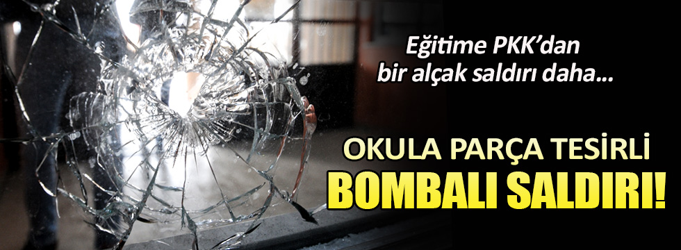 Van'da okula parça tesirli bombalı saldırı!