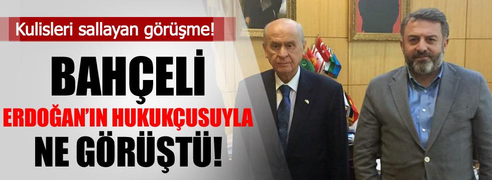 Bahçeli AKP'nin hukukçusu Hüseyin Kaya ile görüştü