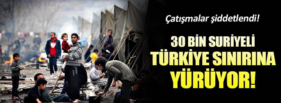 30 bin Suriyeli Türkiye sınırına geliyor
