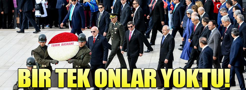 Anıtkabir ve TBMM'deki törenlerde HDP yine yoktu