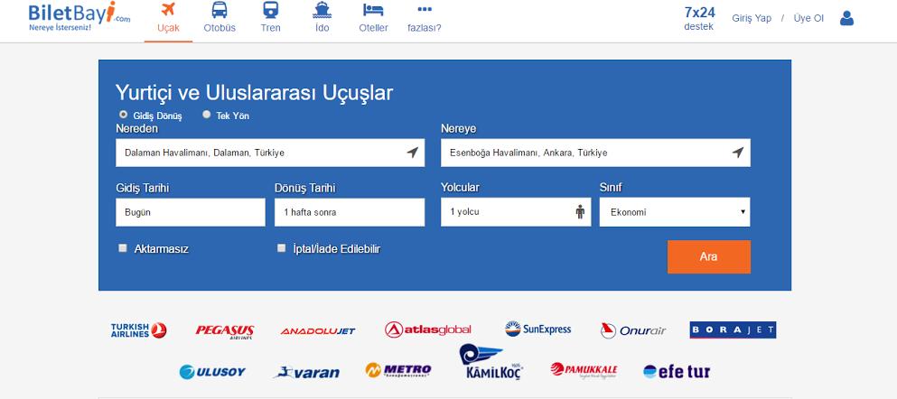 Türkiye'nin yeni online bilet karşılaştırma sitesi açılıyor