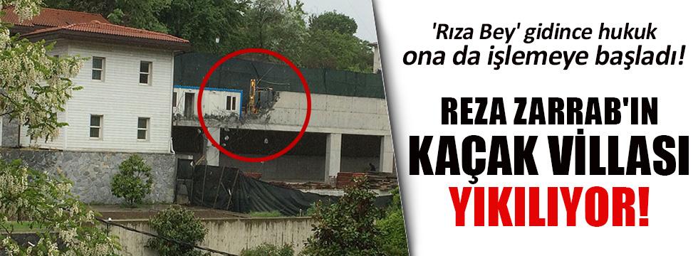 Reza Zarrab'ın villasında yıkım başladı