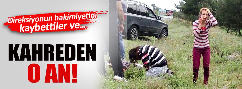 Takla atan otomobildeki çocuk öldü