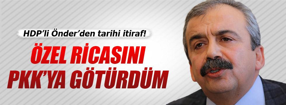 HDP'li Önder'den tarihi itiraf