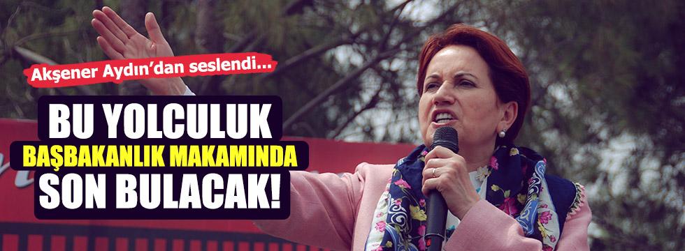 MHP genel başkan adayı Akşener, Aydın'da