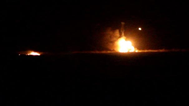 Kilis'te tank böyle patladı!