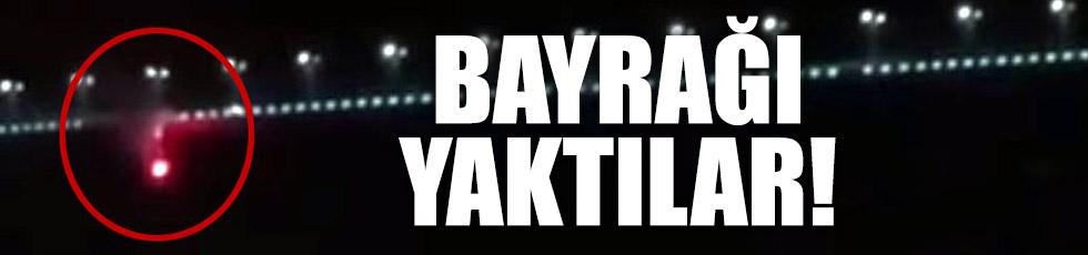 Beşiktaş bayrağını yaktılar!