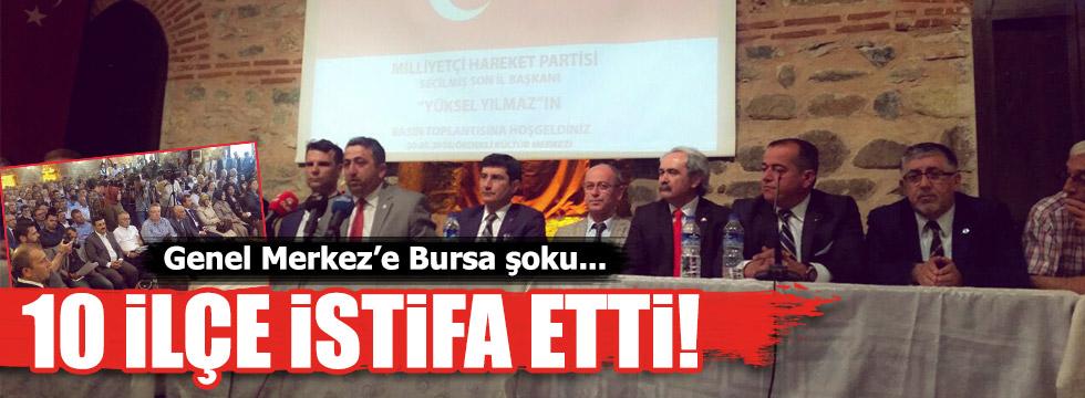 MHP Bursa'da 10 ilçe istifa etti