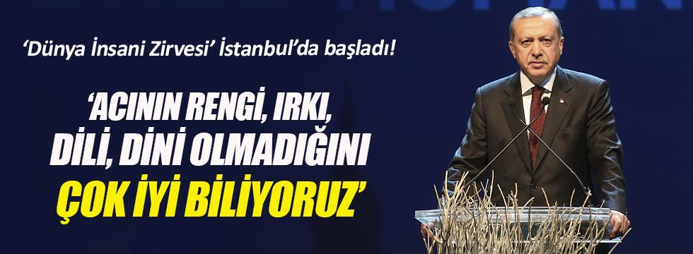 Cumhurbaşkanı Erdoğan: Acının rengi, ırkı, dili, dini olmadığını çok iyi biliyoruz