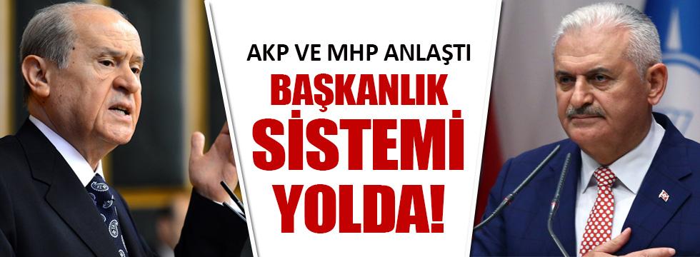 AKP ve MHP anlaştı, Başkanlık sistemi gelecek!
