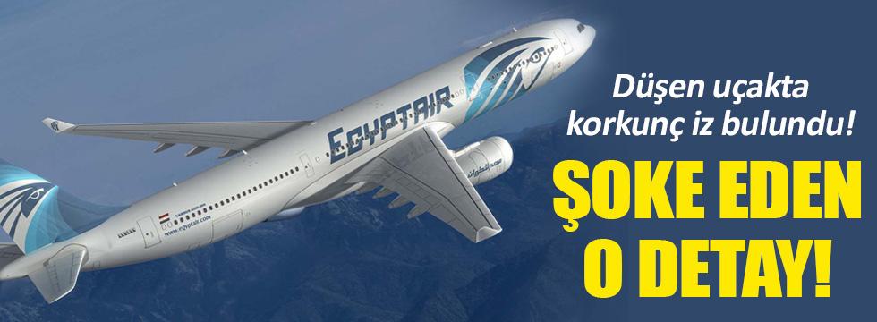 Düşen Mısır uçağında patlama izleri!