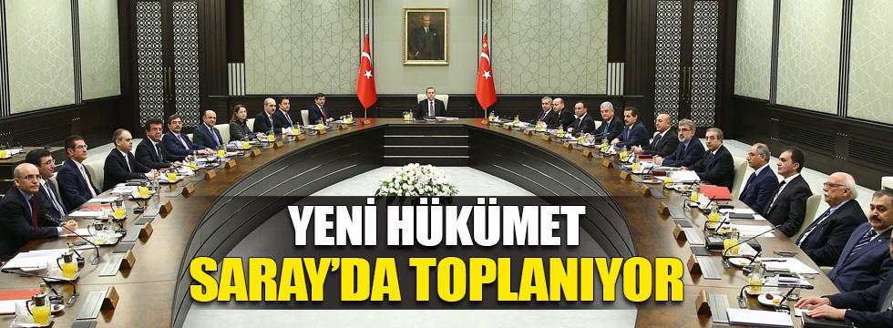 Yeni hükümet yarın Saray'da toplanıyor