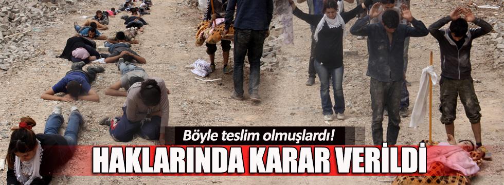 Nusaybin'de teslim olan 38 PKK'lı tutuklandı