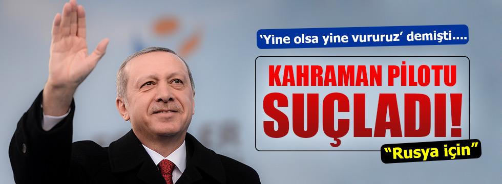 Erdoğan Rus jetini düşüren pilotu suçladı