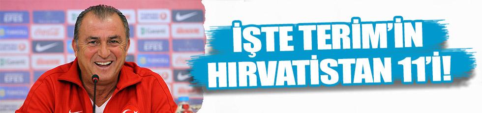 İşte Fatih Terim'in Hırvatistan 11'i