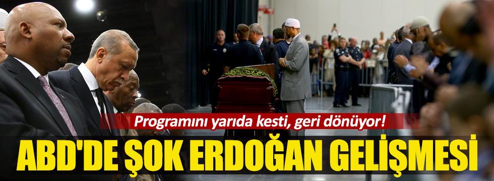 Erdoğan, Muhammed Ali'nin cenaze namazını kılıp ABD'den ayrıldı