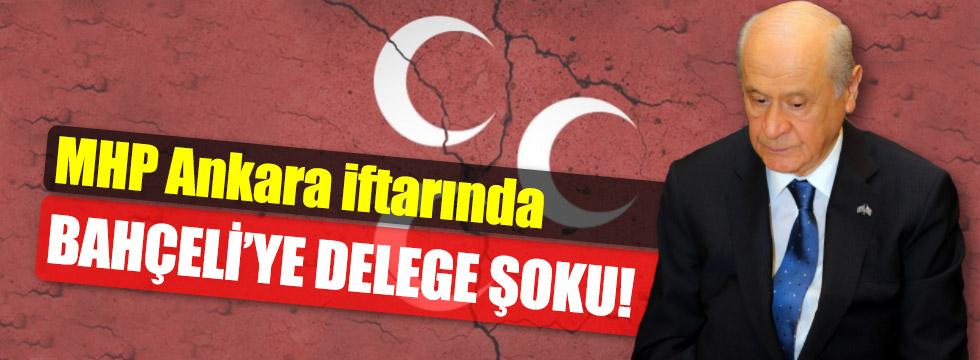 MHP Ankara İftarında Bahçeli'ye delege şoku!