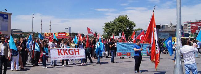 Türkçüler terörü protesto etti!