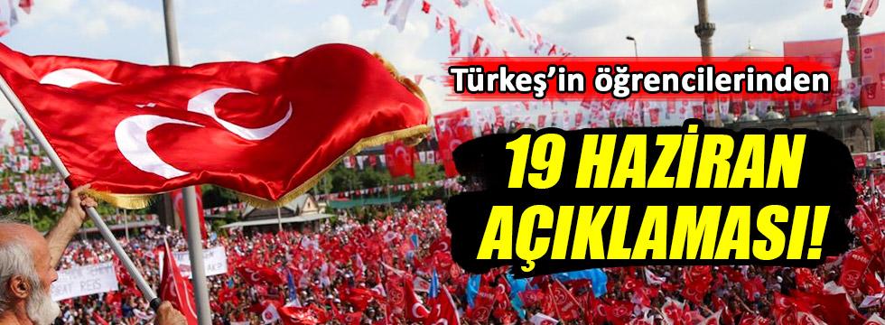Türkeş'in öğrencilerinden 19 Haziran çağrısı