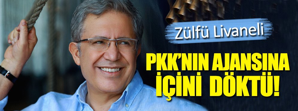 Livaneli, PKK'nın haber ajansına dert yandı!