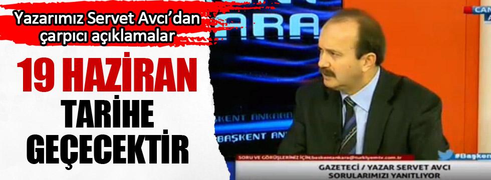 Servet Avcı, Türkiyem TV'nin Canlı yayın konuğu oldu