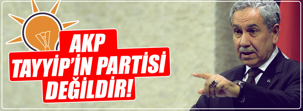"""Arınç: """"AK Parti Tayyip'in partisi değildir"""""""